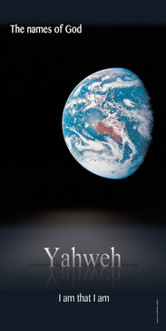 Church Banner featuring Earth From Space with I AM That I AM Theme