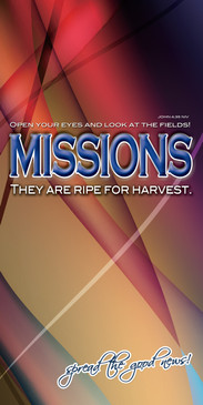 Church Banner featuring Modern Design with Missions Theme