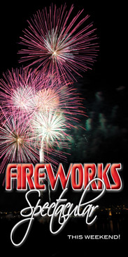 Church Banner featuring Fireworks Spectacular Theme