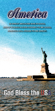 Church Banner featuring Statue of Liberty with Patriotic Theme