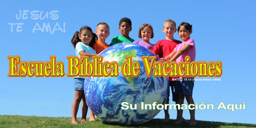 Spanish Church Banner featuring Youth with VBS Theme
