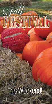 Church Banner featuring Pumpkins with Fall Festival Theme