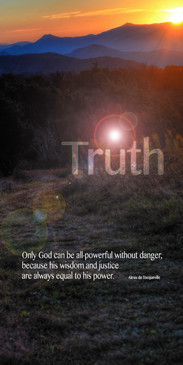 Church Banner featuring Mountains and Sunset with Truth Theme