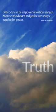 Church Banner featuring Clouds and Blue Sky with Truth Theme
