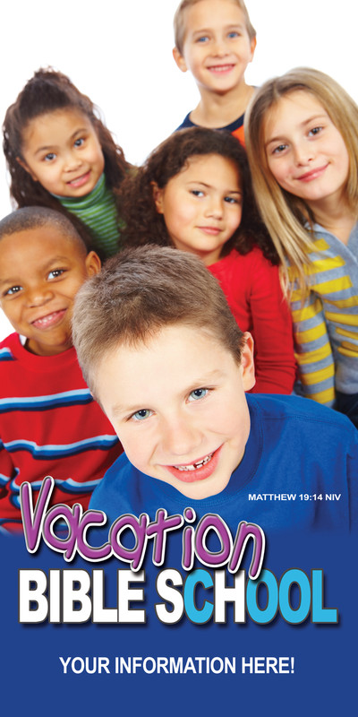Church Banner featuring Kids for VBS Theme