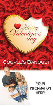 Church Banner featuring Family and Valentine Theme