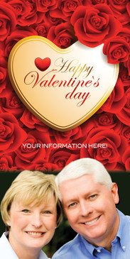 Church Banner featuring Couple and Valentine's Day Theme