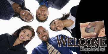 Church Banner featuring Young Professionals and Welcome Theme