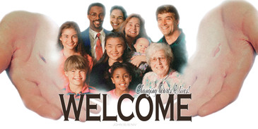 Church Banner with Everyone's Welcome Theme