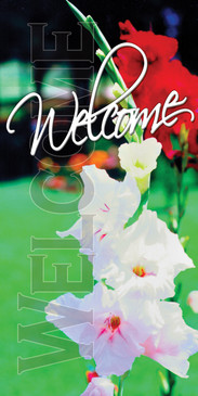 Church Banner featuring Summer Flowers and Welcome Theme