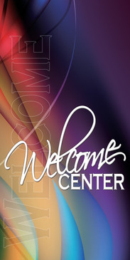 Church Banner featuring Stained Glass Effect for Welcome Banner