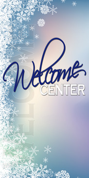 Church Banner featuring Snowflakes for Welcome Banner