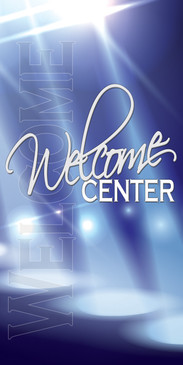Church Banner featuring Spotlights for Welcome Banner