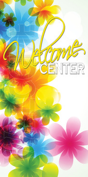 Church Banner featuring Spring Flowers for Welcome Banner