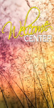 Church Banner featuring Field of Flowers for Welcome Banner