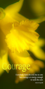 Church Banner featuring Daffodil with Courage Theme