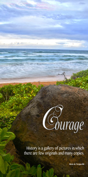 Church Banner featuring Tropical Beach with Courage Theme