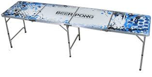 """Measures 95""""x24""""x 27"""" height.  Beer Pong is generally played by teams of two in which each team takes turns throwing a ping pong ball into the other teams cup.  Once a ball lands in a cup, the cup is taken away and the opponent then drinks the contents of the cup."""