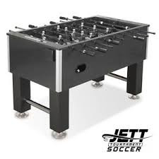 """Game Dimensions:  Weight 205 lbs.; Length 55""""x Width 30 1/2"""" Height 34 1/2""""; includes 4 tournament sytle 36mm foosballs.  Ball Bearing Bushings; 5/8"""" metal chrome plated rods; players are balanced and weighted allowing the player to stay parked.  Tempered glass playing surface."""