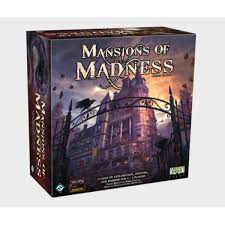 Mansions of madness is a fully co-operative, app driven board game of horror and discovery. Players take the part of investigators, collecting weapons, tools and different information, solving puzzles, fighting monsters, insanity and death in four different scenarios.  1-5 players     14+     120-180 min