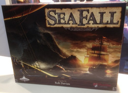 Explore the coastal islands, discover civilization, sail in search of new islands and uncover long burried secrets. Sail until the sea falls off the edge of the world. As with other legacy games, the game board changes, cards are modified and sealed packs are opened revealing twists and turns.  3-5 players     14+     90-120 min