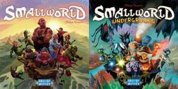 Players vie for conquest and control of a world much too small to accommodate them all. Smallworld is inhabited by a zany cast of characters such as dwarves, wizards, amazons, giants, orcs and even humans, who use their troops to occupy territory and conquer adjacent lands in order to push the other races off the face of the earth.  2-5 players     8+     40-80 min