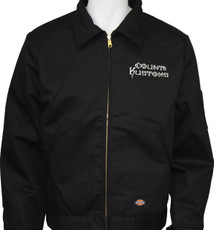 Embroidered Work Jacket - Black
