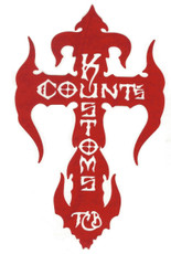 Count's Kross Sticker - Red