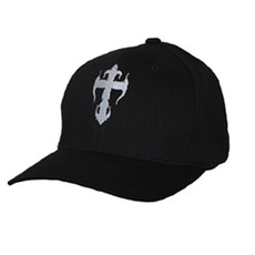 Black Flex-Fit Cap - White Kross