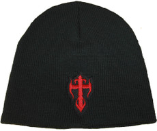 Beanie - Black with Red Kross