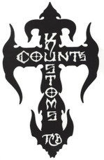 Count's Kross Sticker - Black