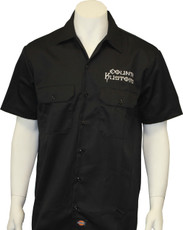 Embroidered Work Shirt - Black