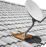Antenna Mount for Tile Roof - suitable for Dish, Large Antennas