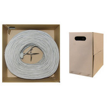 Ethernet Cable CAT5E UTP Indoor 1000FT Pull Box. Stranded