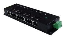 PoE Injector: 8 Ports: Any voltage from 12VDC to 48VDC (Passive)