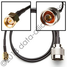 SMA-male To N-male connector: Length options:  2FT, 4-FT, 10-FT