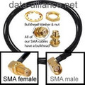 SMA Extension Cable 5-FT w/ Right Angle Connectors Male to Female bulkhead