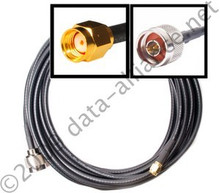 Antenna Cable: N-male To RP-SMA male: 30FT Coax | Reverse Polarity SMA