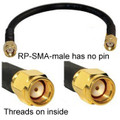 RP-SMA-male to RP-SMA-male cable:  8 inches