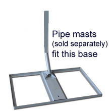 Lovely Non Penetrating Roof Mount Base: Fits Pipe Mast Antenna Mounts: Extendable  Up To 7FT Mast