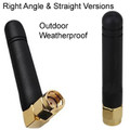 Omni-directional 2.4GHz outdoor antenna: Straight and right-angle versions