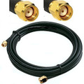 RP-SMA male to male antenna cable: 30FT, made with LMR-200 coaxial cable