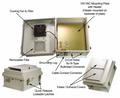 HWN141HF Mounting Flange 14x12x7 w/120VAC Enclosure, Heat, Fan FRP NEMA