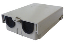 Outdoor enclosure with two removable 1″ entry/exit ports