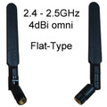 2.4GHz Flat-Type Dipole Omni-Directional Antenna:  4dBi with RP-SMA-male
