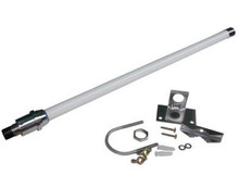 This 5.1 - 5.8 GHz 12dBi Omni-directional antenna is waterproof and will last in a marine / salt spray environment for about 1 year, before showing signs of corrosion.  Comes with mounts for pole or wall.