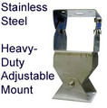Antenna Mount:  Adjustable Heavy Duty for Pole or Wall.  Stainless Steel