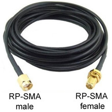 RP-SMA Extension Cable: 15FT Male (Plug) to Female (Jack)