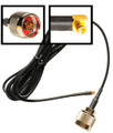 Antenna Cable:  MMCX (Ubiquiti card jack) to N-male: 6.25FT coax assembly