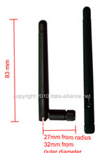 Send / receive signal vertically and horizontally with this 2dBi omni directional antenna with RP-SMA male connector